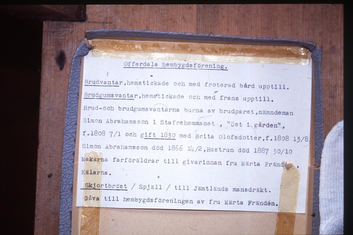 Information om brudvantar