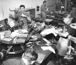 Askim Gummivarefabrikk i Askim 1962. Fabrikken blei etablert