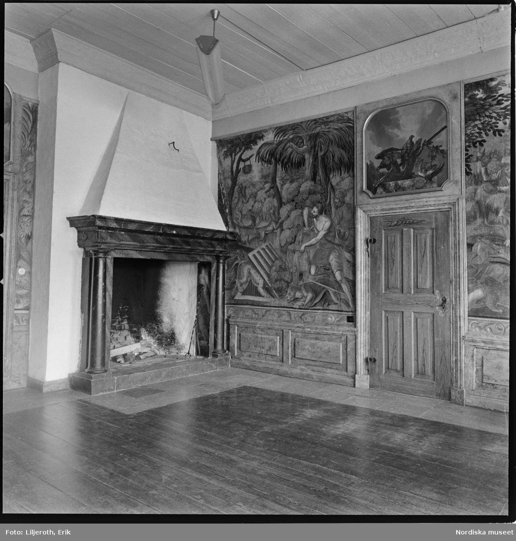 Öster malma, herrgård, föremål i interiör Ludgo socken, Södermanland.
