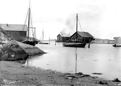 Gravningssundet med salteriet Skuteholmen, Hvaler  ca. 1890.