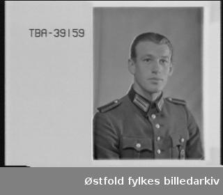 Portrett av tysk soldat i uniform, Ernst Ganter.