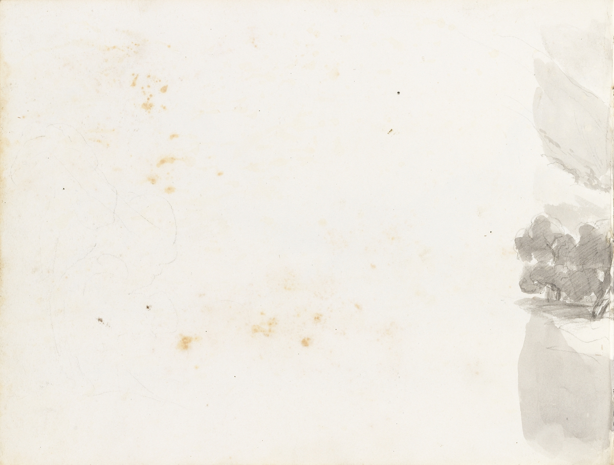 Fra Luganosjøen (fragment) [Tegning]