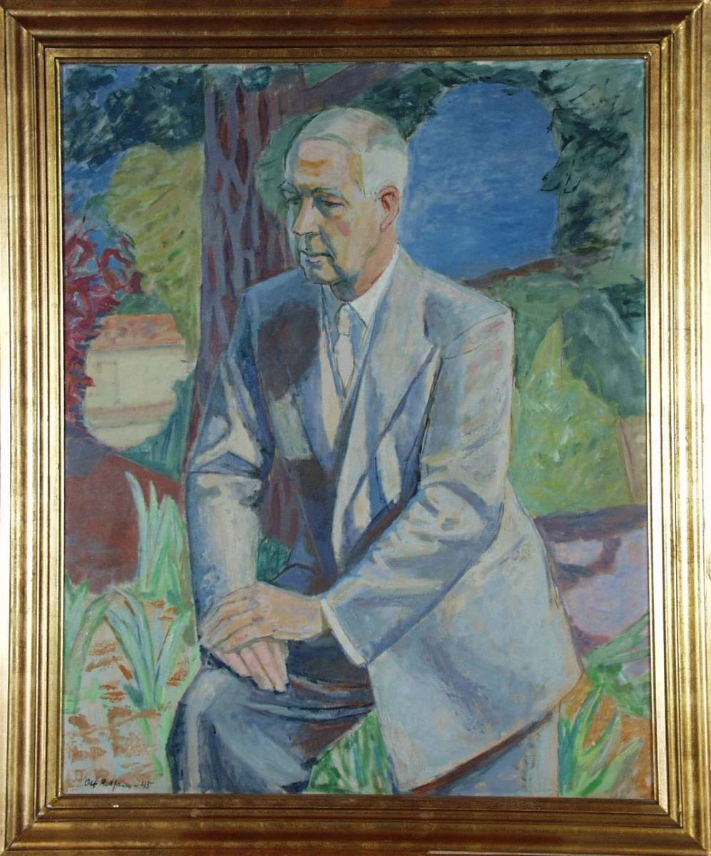 Portrett av Sigurd Grieg.