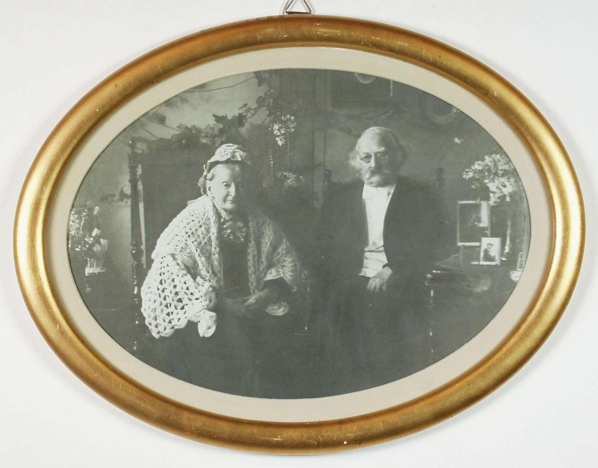 Portrett av Frederik Julin og Selma Heloise.