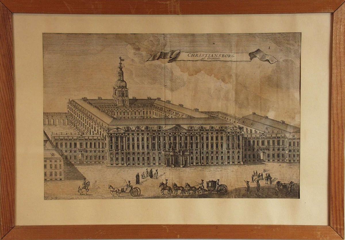 Motiv av Christiansborg i København.