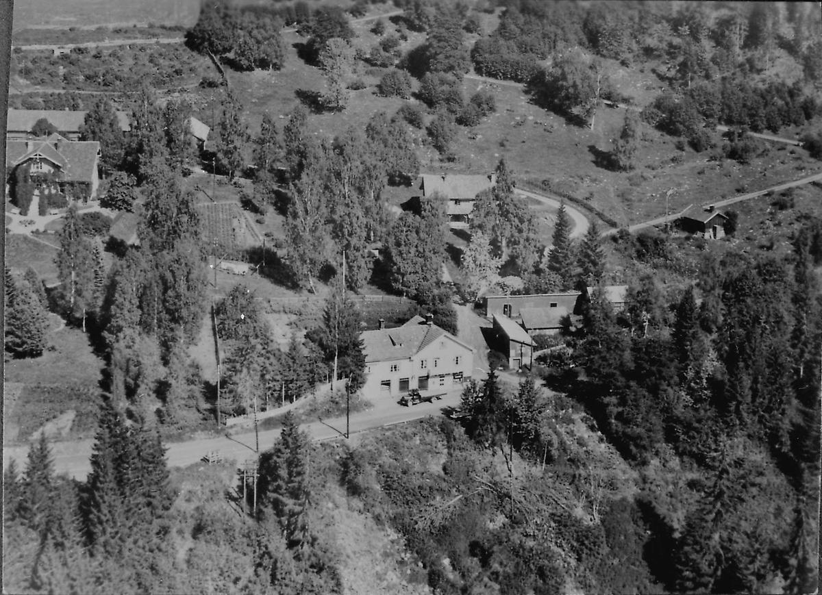 Nedre Aulestad, Erling-huset, flybilde, landhandleri,