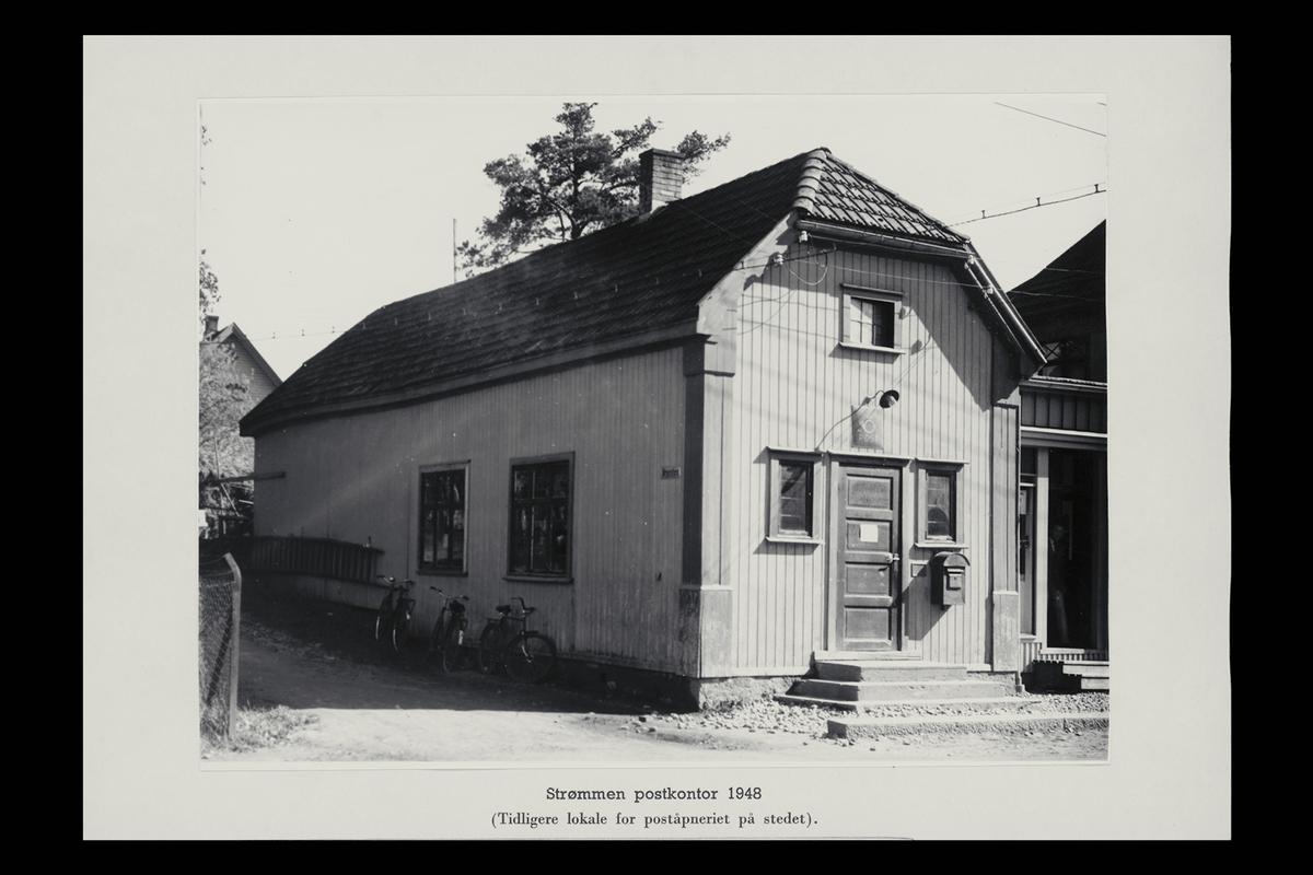 eksteriør, postkontor, 2010 Strømmen, postkasse, postskilt