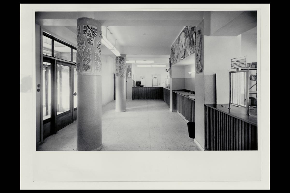 interiør, postkontor, 8600 Hammerfest, publikumshallen