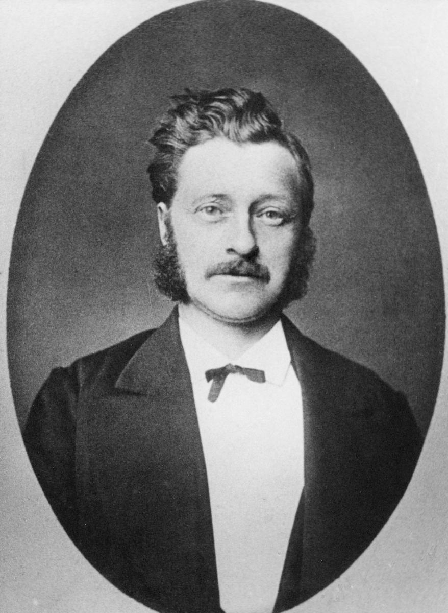 portrett, postmester, Kjær Georg