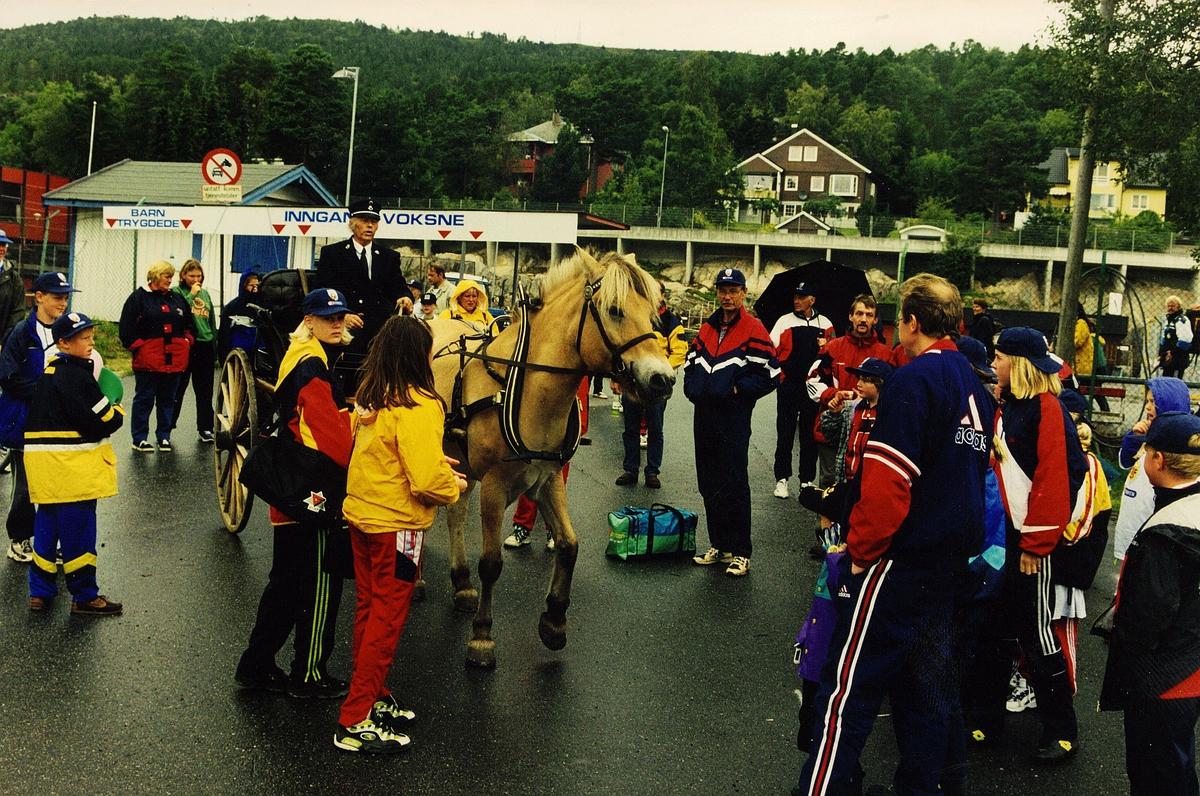 postdagen, Molde, hest, vogn, kusk, postfolk med familier