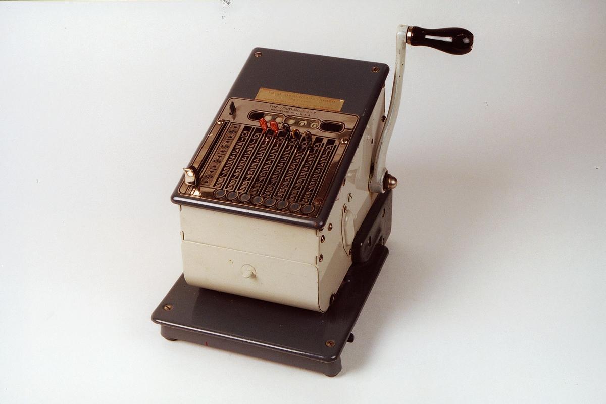 Postmuseet, gjenstander, sikringsmaskin, Todd 245 NR7296.