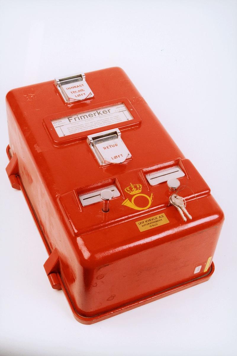 postmuseet, gjenstander, automat, frimerker, frimerkeautomat for hefter