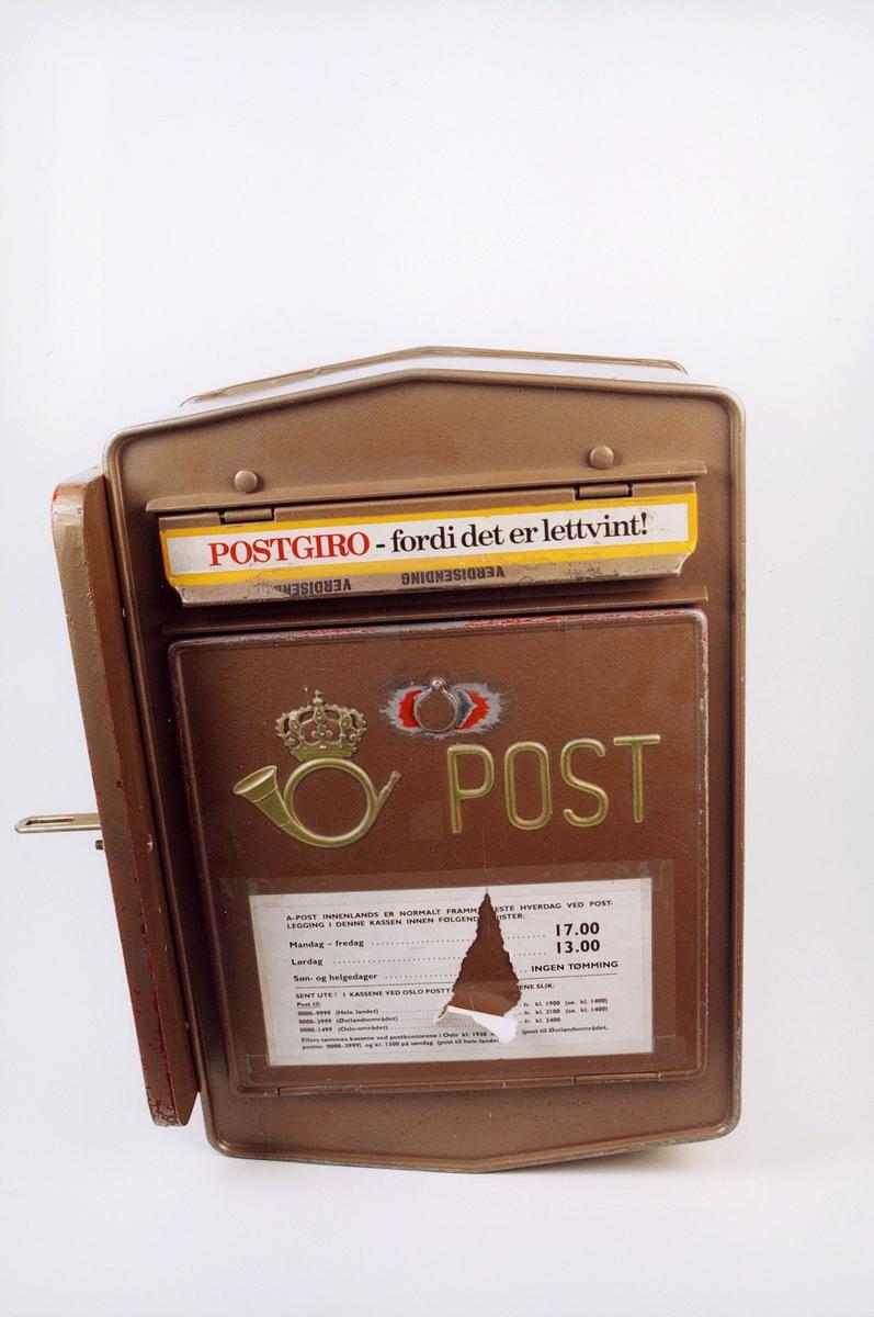 postmuseet, gjenstander, postkasse, tømmepostkasse