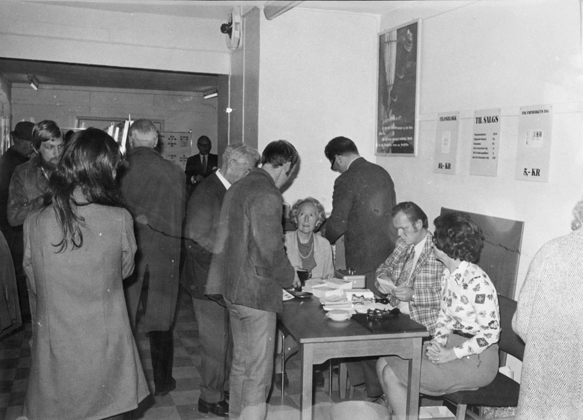 markedsseksjonen, Frimerkets dag' 73, Saga kino, utstilling, filateli