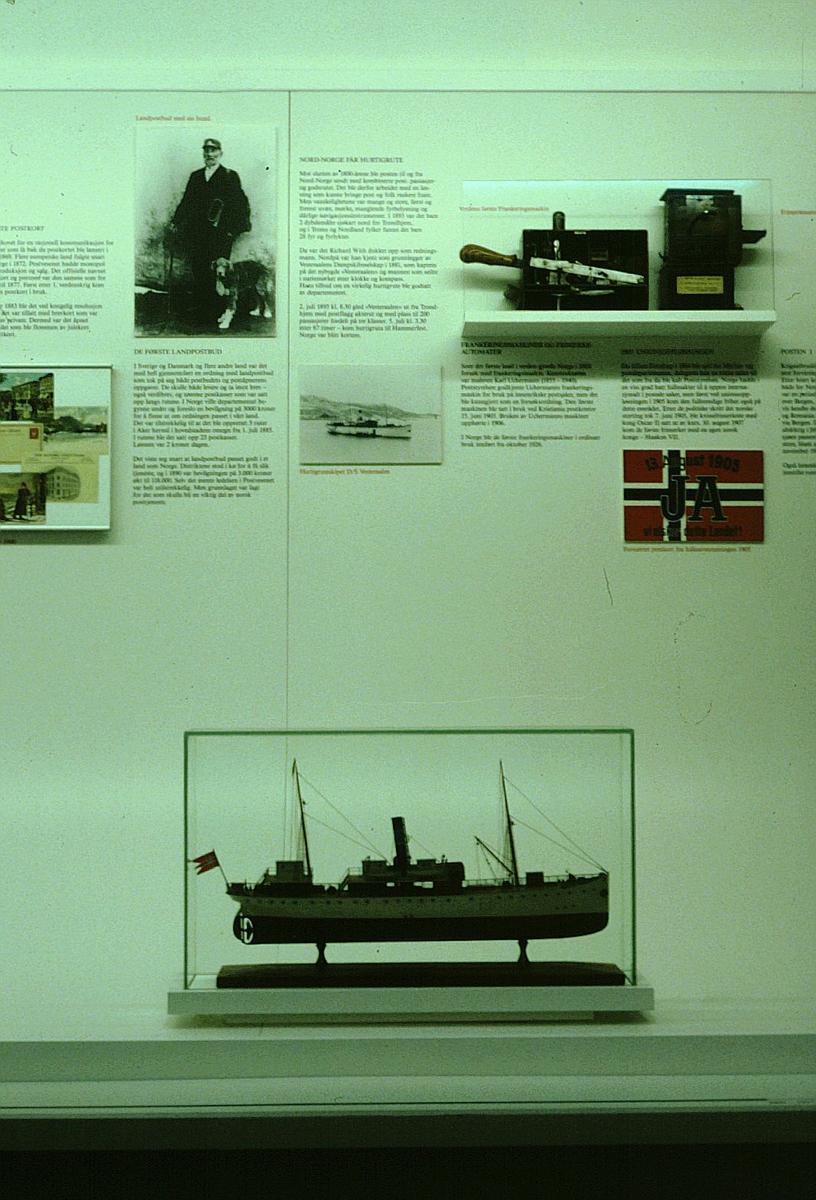 postmuseet, utstilling, frimerkegangen, hurtigrutemodell, unionsoppløsningen i 1905