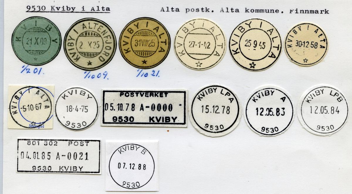 Stempelkatalog 9530 Kviby i Alta, Alta, Finnmark