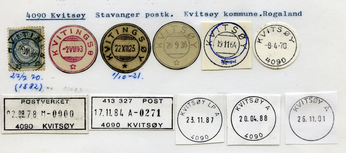 Stempelkatalog 4090 Kvitsøy (Kvitingsø, Kvitingsøy) Stavanger, Kvitsøy, Rogaland