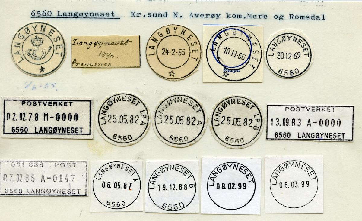 Stempelkatalog 6560 Langøyneset, Kristiansund, Averøy, Møre og Romsdal