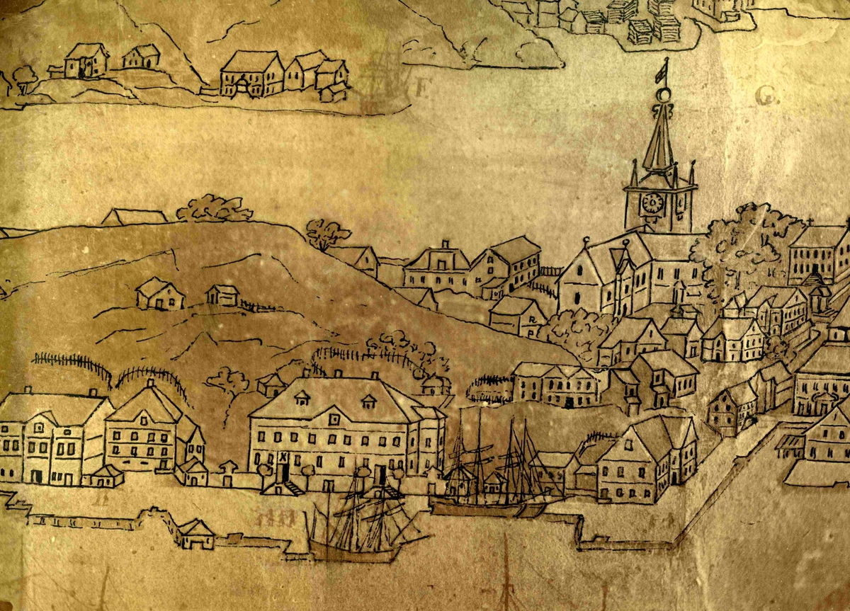 Detajjert prospekt av Arendal