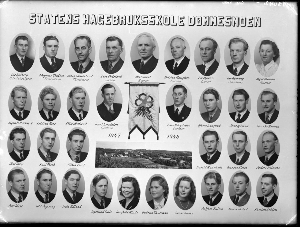 Statens hagebruksskole Dømmesmoen Studenter og lærere