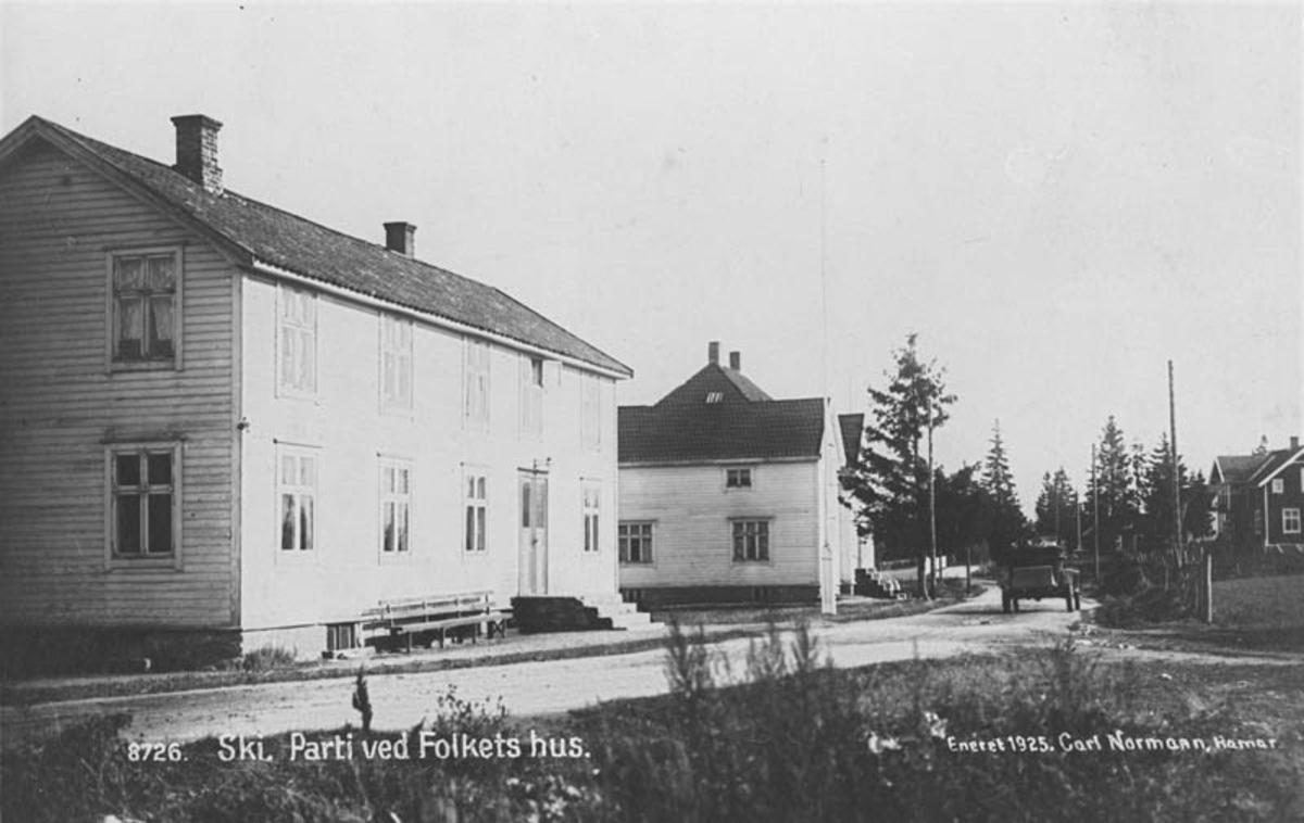 Folkets hus i Ski, fotografert i 1925.