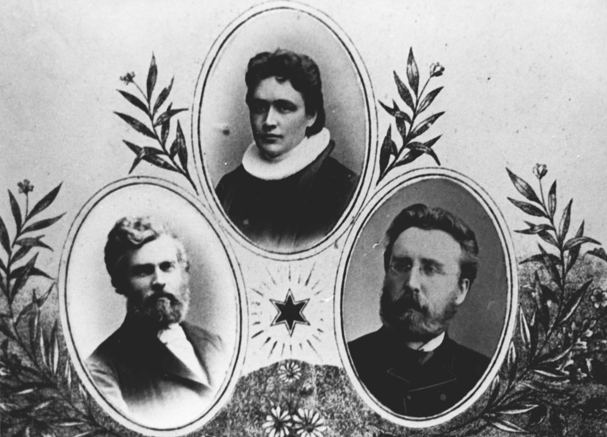 Bilde av tre prester knyttet til Svartskog kirke.