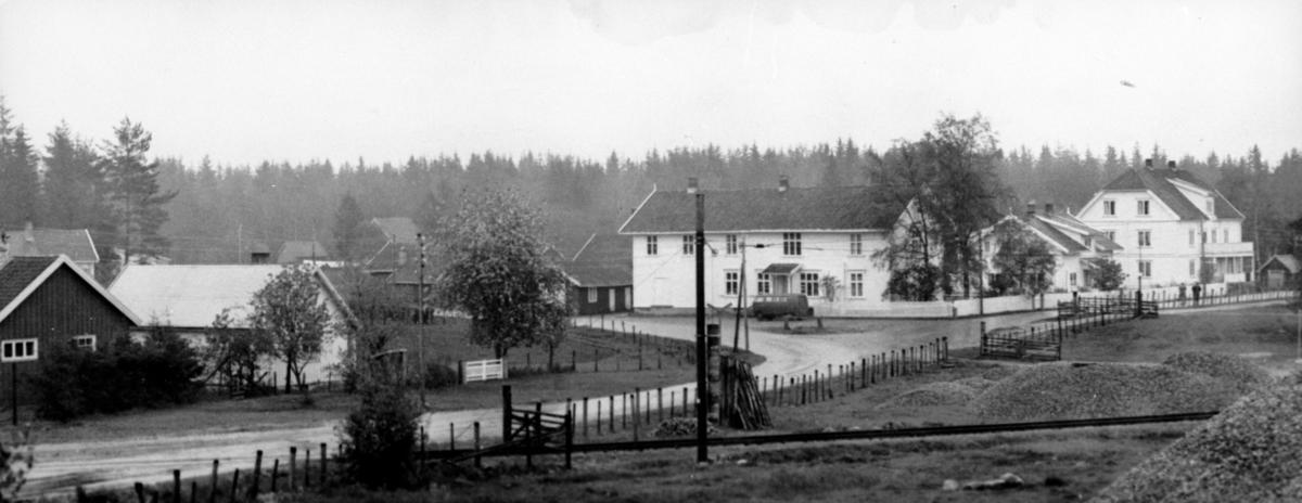 Hauerseterområdet med butikken til Anders Norheim midt i bildet
