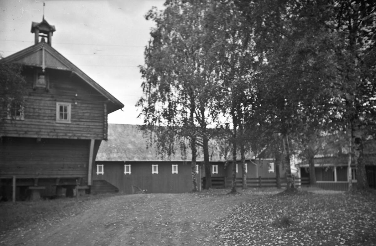 Gårdstun med stabbur, låve og hus.