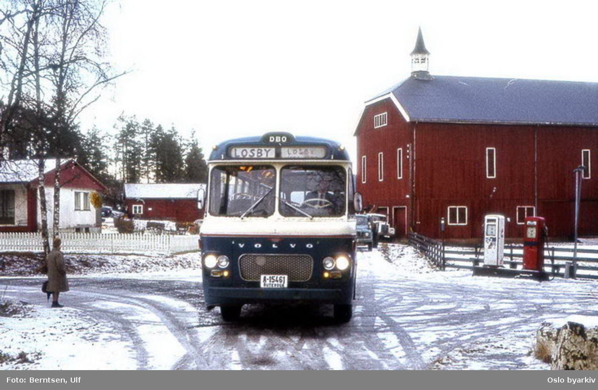 Buss, De Blå Omnibusser, DBO buss A-15461 linje 66 til Losby gods.