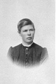 PORTRETT: KRISTINE LIBERG FØDT: HAARSTAD 1857, LIBERG