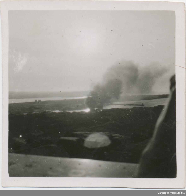 Trefninger under flyangrep, sett fra Vårberget