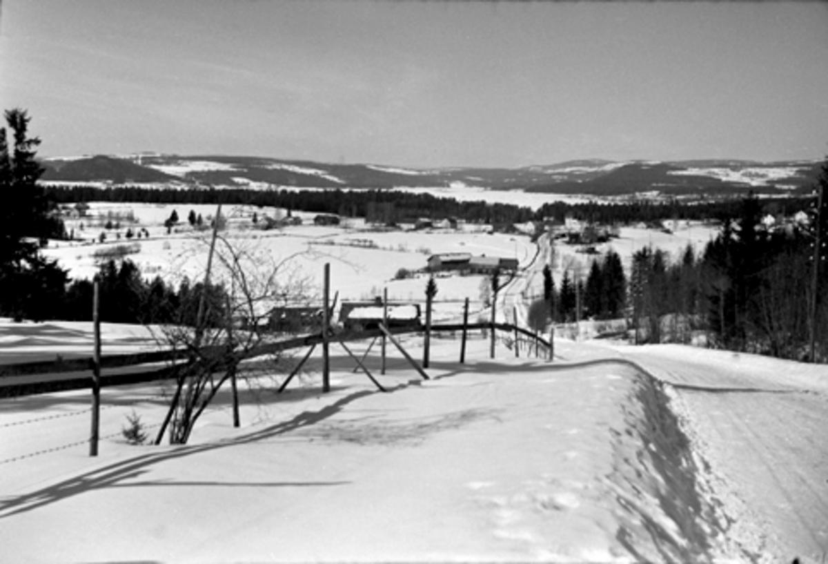 KONGSVEGEN, FURNES i Ringsaker, SOLLERUDBAKKEN, VINTER, FB2. 591