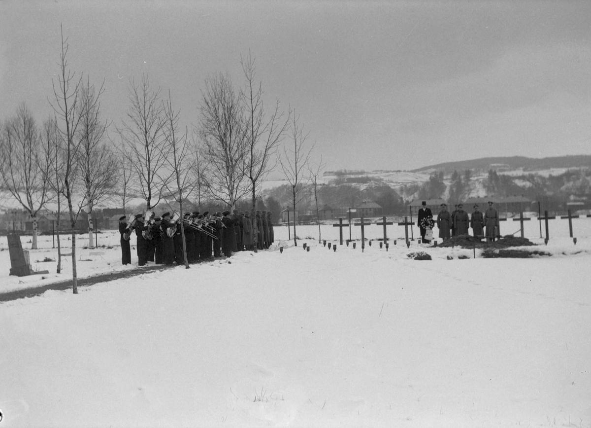 Begravelse av engelsk soldat