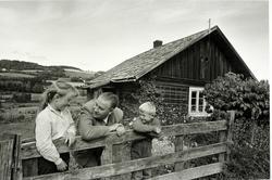 Alf Prøysen i Ringsaker i 1961, foto Johan Brun for Dagblade