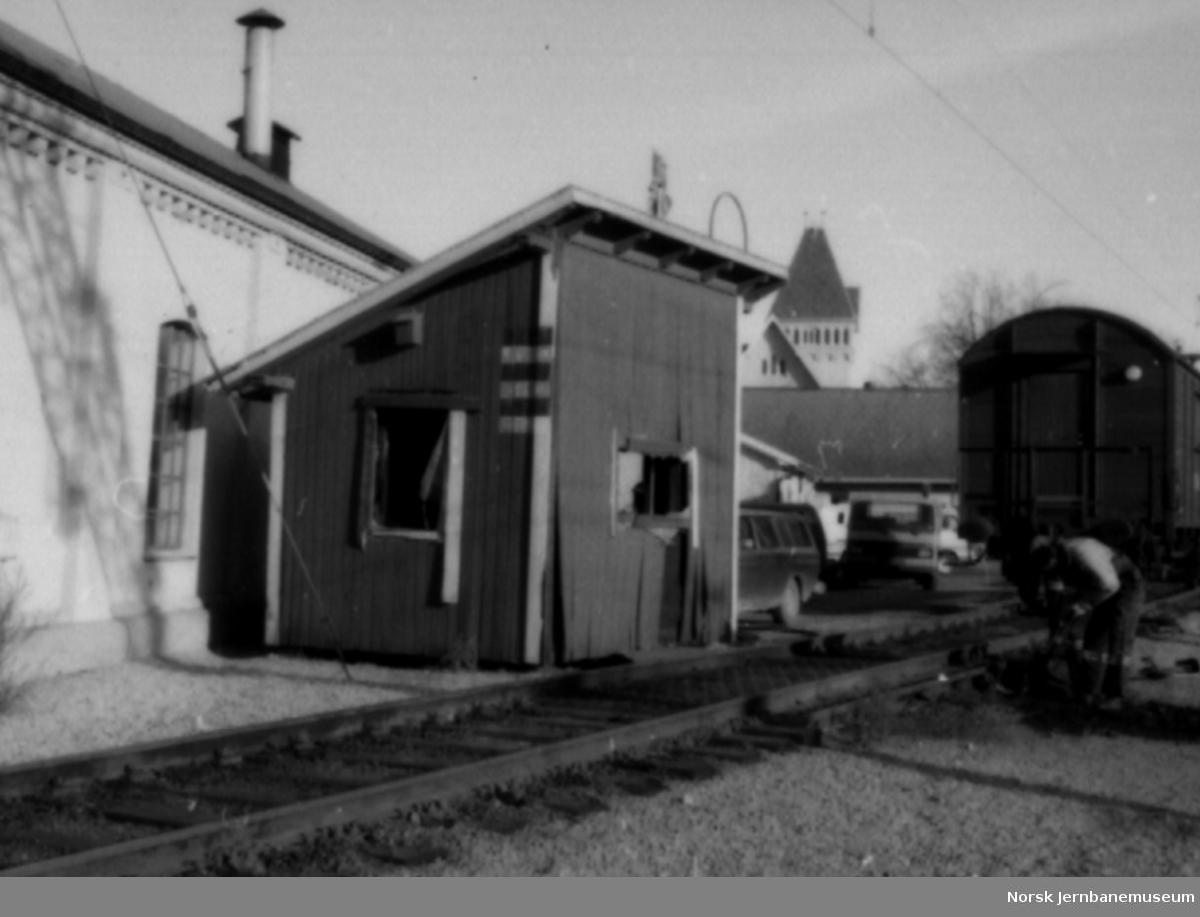 Vognvekt fra Halden stasjon