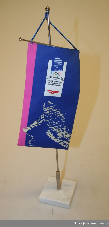 -1. Vimpel Med NSB som sponsor fra OL på Lillehammer             1994. -2. Vimpel med NSB som sponsor fra VM på ski i Trondheim      1997.