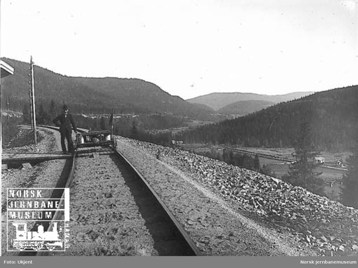 Firehjuls motortralle på Gjøvikbanen