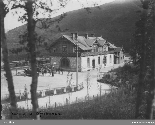 Narvik stasjonsbygning kort tid etter banens åpning