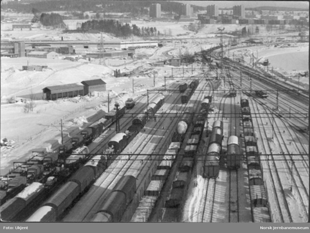 Alnabru stasjon, deler av skifteområdet, flyfoto