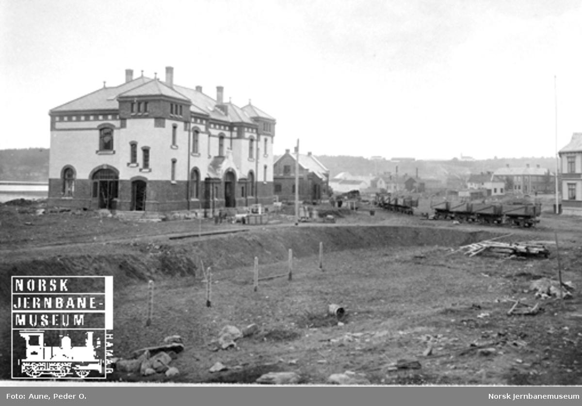 Steinkjer stasjon, bysiden, planeringsarbeider pågår