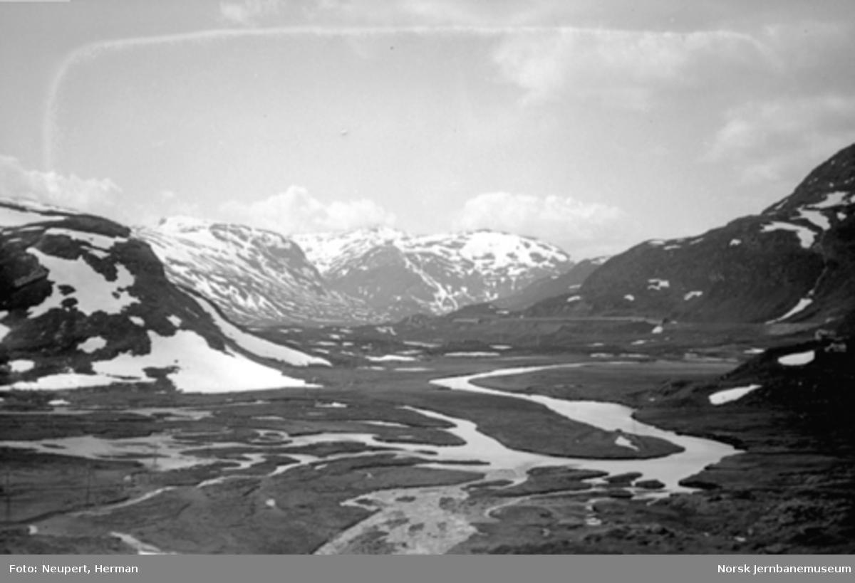 Utsikt fra Bergensbanen ved Upsete