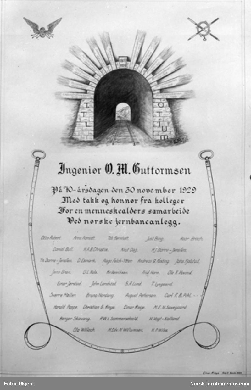 Ingeniør O. M. Guttormsen : 70 års-hilsen