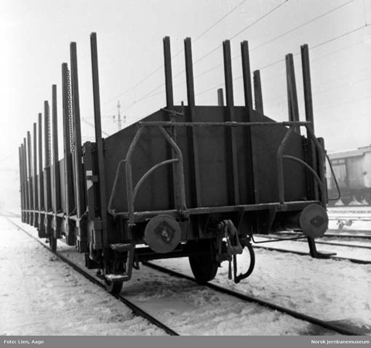 NSB plattformvogn med staker litra Tl5 nr. 62000