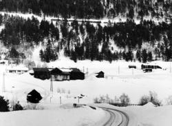 Godstog mellom Bjorli og Verma, fotografert fra sørsiden av