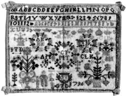 Navneduk fra 1796. Kristiansand, Vest-Agder.