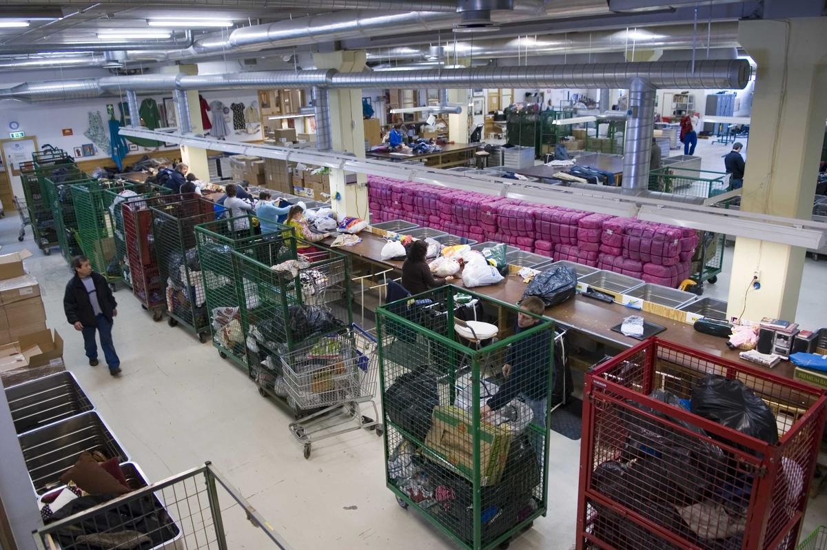 Fretexavdelingen, sorteringshallen, Ole Deviks vei 50, 0668 Oslo