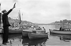 """Serie. Dagbladets fiskekonkurranse """"Gullfisk"""" i Mandal, Vest"""