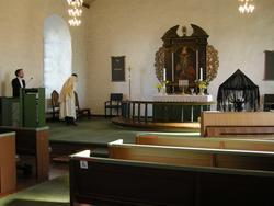 1. påskedag i Borge kirke, Østfold, 23.03.2008. Klokker og p