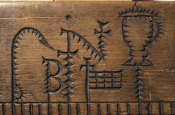 Primstav, fra Valle, Setesdal  fra 1707, fra Norsk folkemuse