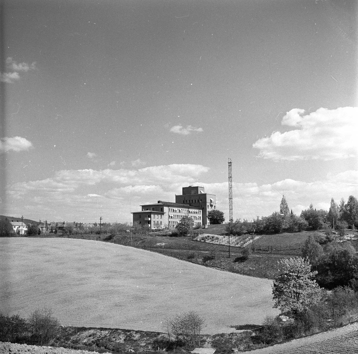 Blindern, Oslo, mai 1955. Meteorologisk institutt. Bygning.